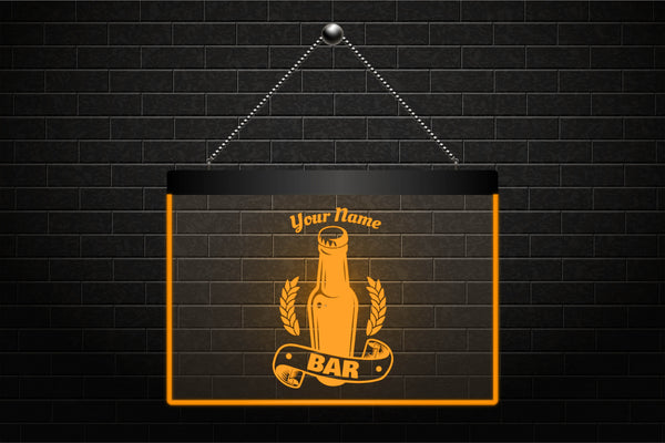 Custom Personalized Beer Bottle Bar Neon Light Sign (Two Sizes) - The Beer Life