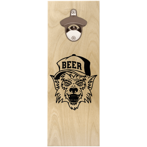 Werewolf Beer Hat Wooden Wall Hanging Bottle Opener Bottle Openers - The Beer Lodge