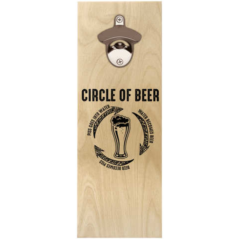 Circle Of Beer Wooden Bottle Opener Bottle Opener - The Beer Lodge