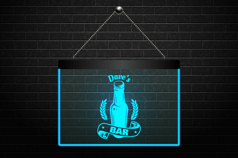 Custom Personalized Beer Bottle Bar Neon Light Sign (Two Sizes) Beer Signs - The Beer Lodge