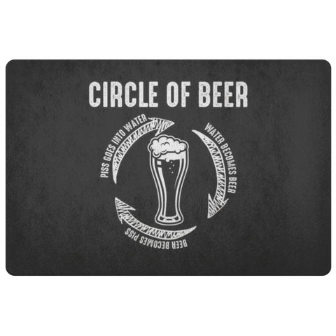 Circle Of Beer Doormat Doormat - The Beer Lodge