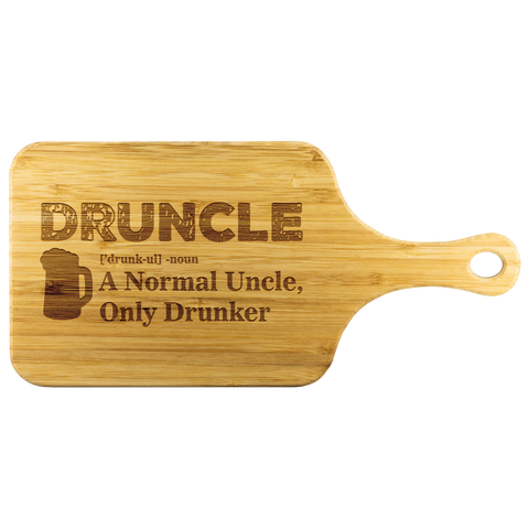 Druncle Wooden Cutting Board With Handle