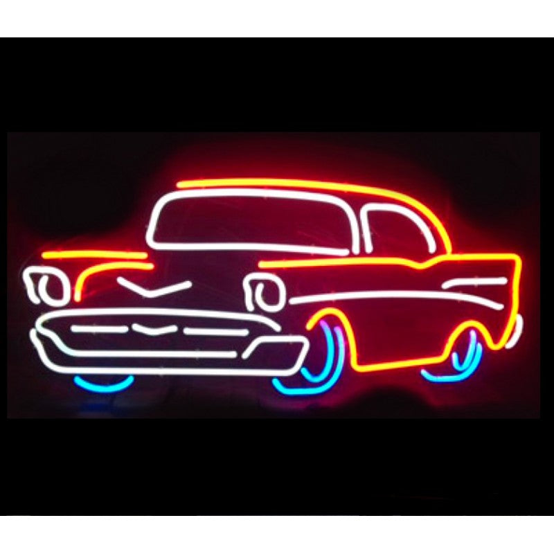 57 Chevy Neon Home Bar Sign Neon Sign - The Beer Lodge