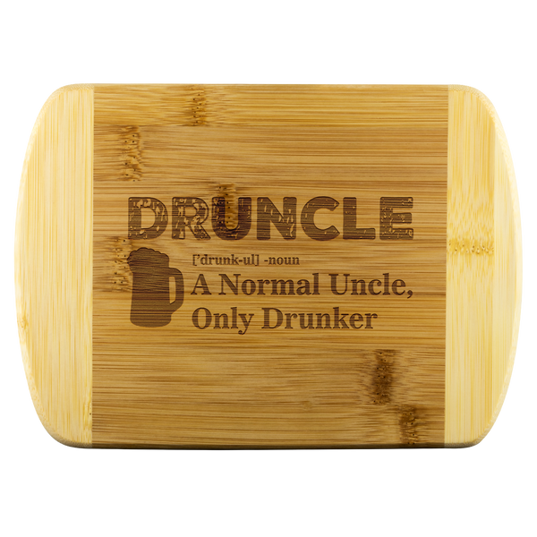 Druncle Round Edge Wooden Cutting Board Wood Cutting Boards - The Beer Lodge