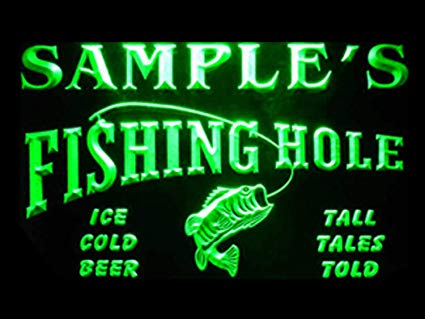 Name Personalized Fly Fishing Hole Den Bar Beer Gift Neon Sign (Three Sizes) LED Signs - The Beer Lodge
