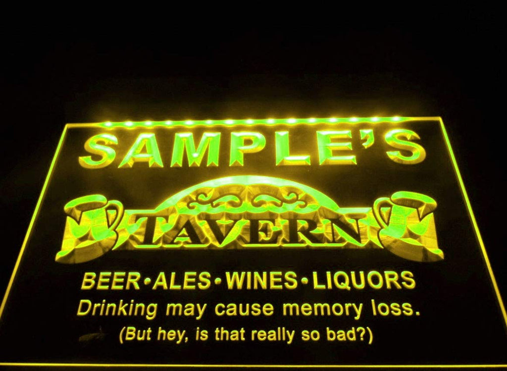 Name Personalized Tavern Man Cave Bar Beer Neon Light Sign (Three Sizes) LED Signs - The Beer Lodge