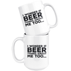 I Wonder If Beer Thinks About Me Too 15oz Mug Drinkware - The Beer Lodge