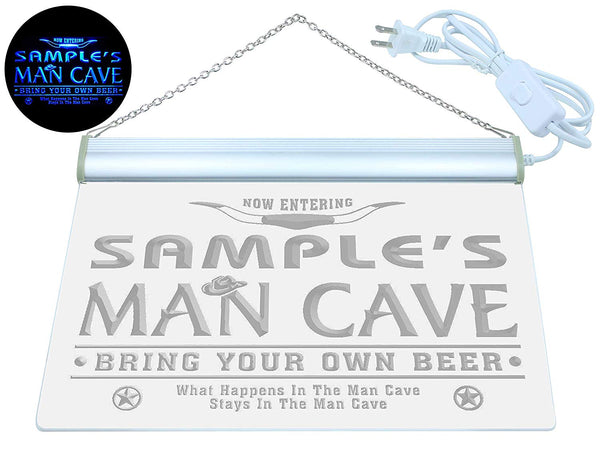Name Personalized Man Cave Football Bar Beer LED Sign (Three Sizes) LED Signs - The Beer Lodge