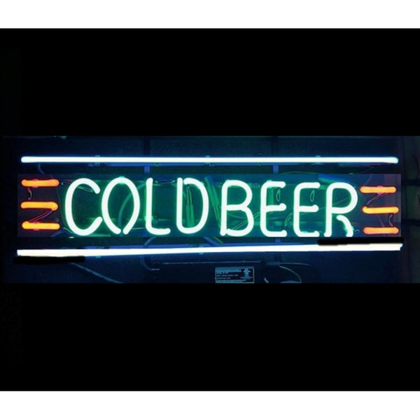 Cold Beer Neon Home Bar Sign Neon Sign - The Beer Lodge