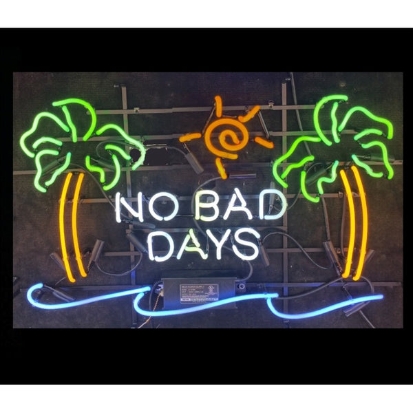 No Bad Days Neon Home Bar Sign Neon Sign - The Beer Lodge