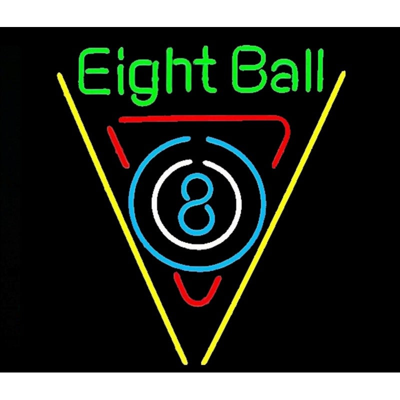 Eight Ball Neon Home Bar Sign Neon Sign - The Beer Lodge