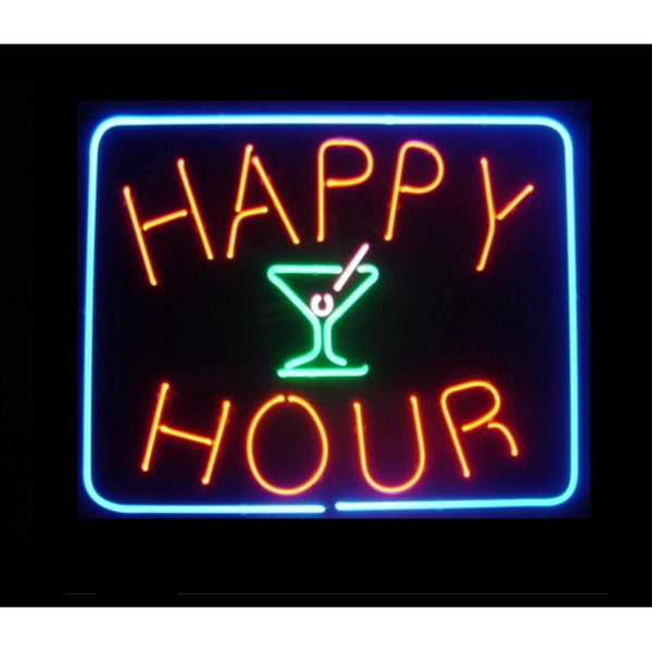 Happy Hour Neon Home Bar Sign Neon Sign - The Beer Lodge