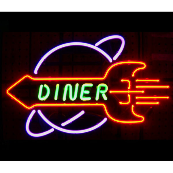 Diner Neon Home Bar Sign Neon Sign - The Beer Lodge