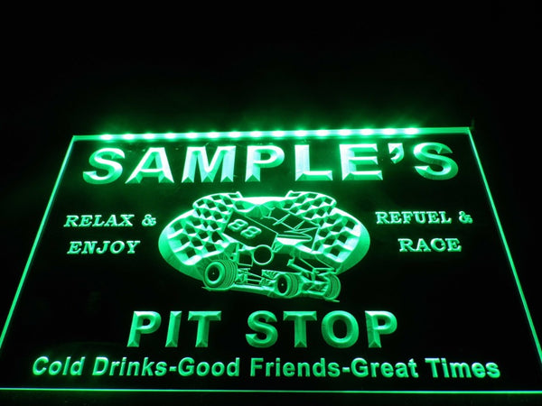 Name Personalized Custom Pit Stop Man Cave Bar Neon Beer Sign (Three Sizes) LED Signs - The Beer Lodge