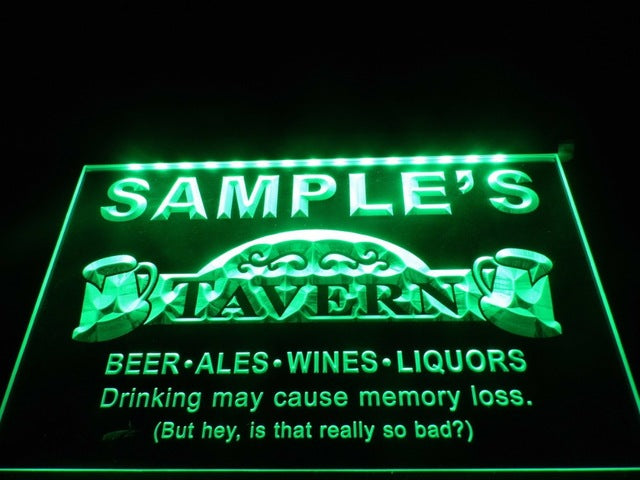 Name Personalized Tavern Man Cave Bar Beer Neon Light Sign (Three Sizes) Beer Signs - The Beer Lodge