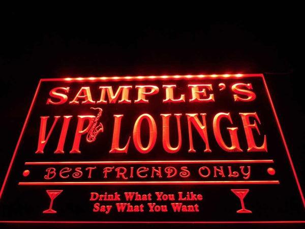 Personalized VIP Lounge Best Friends Only Bar Beer Neon Sign (Three Sizes) Beer Signs - The Beer Lodge