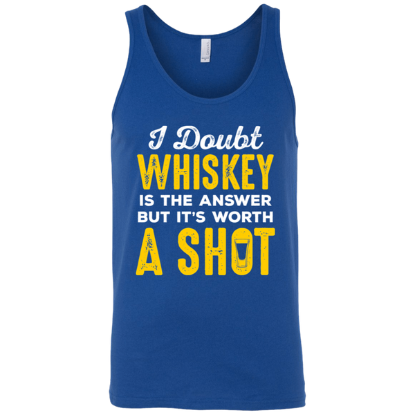 I Doubt Whiskey Is The Answer But It's Worth A Shot Tank Top Apparel - The Beer Lodge
