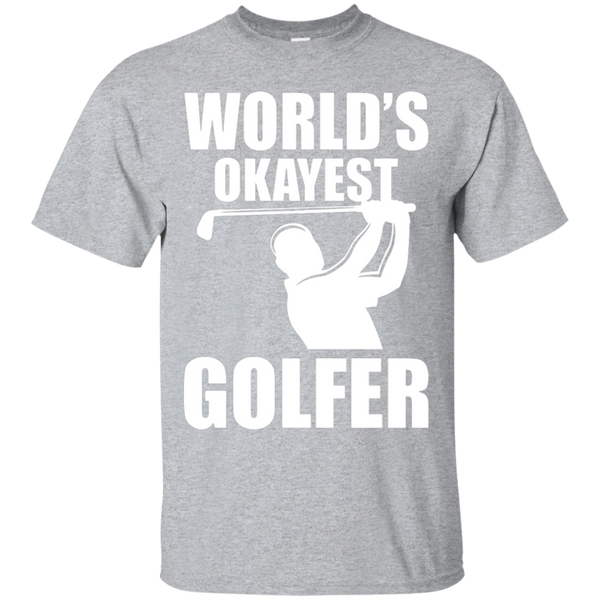 World's Okayest Golfer T-Shirt Apparel - The Beer Lodge