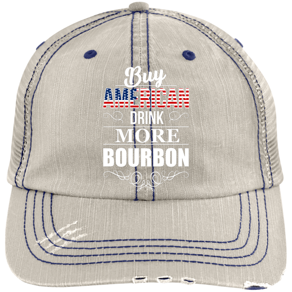 Buy American Drink More Bourbon Trucker Cap Hats - The Beer Lodge
