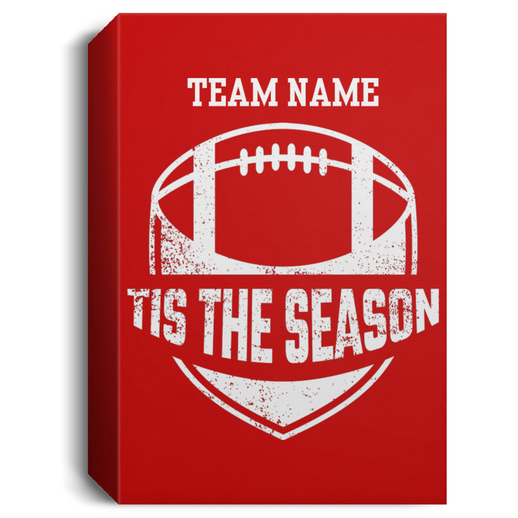 Personalized Tis The Season Football Canvas Sign (Five Sizes) Canvas Sign - The Beer Lodge