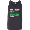 How To Golf Tank Top Apparel - The Beer Lodge