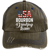 USA Bourbon Drinking Team Trucker Cap Hats - The Beer Lodge