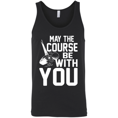 May The Course Be With you Tank Top Apparel - The Beer Lodge
