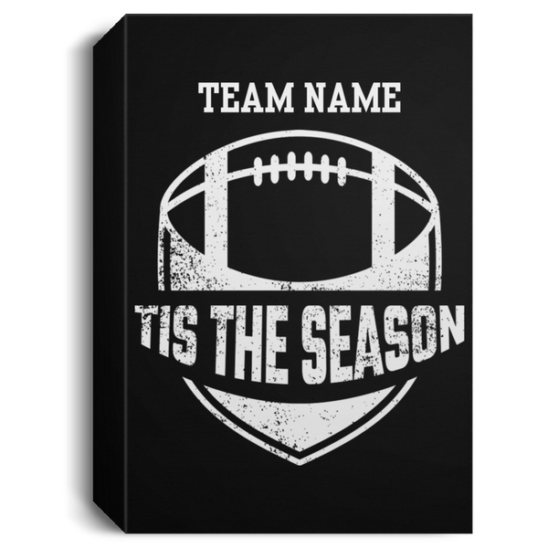 Personalized Tis The Season Football Canvas Sign (Five Sizes)