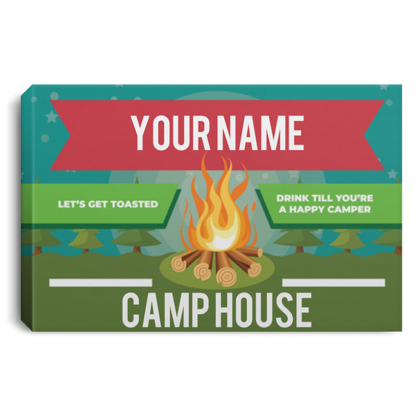 Personalized Camping Canvas Sign (Three Sizes)
