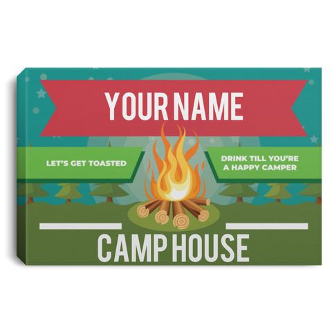 Personalized Camping Canvas Sign (Three Sizes) Canvas Sign - The Beer Lodge