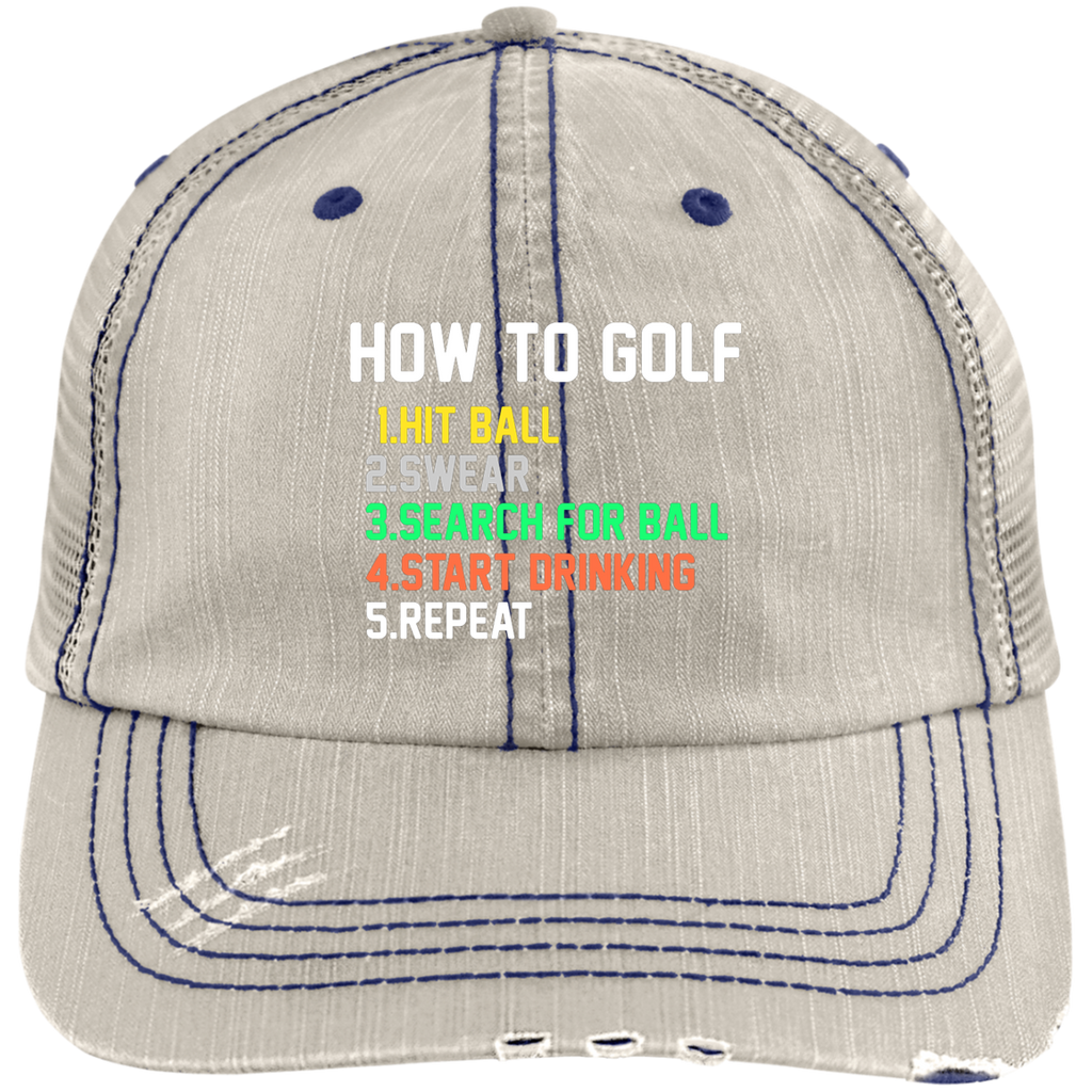 How To Golf Trucker Cap Hats - The Beer Lodge