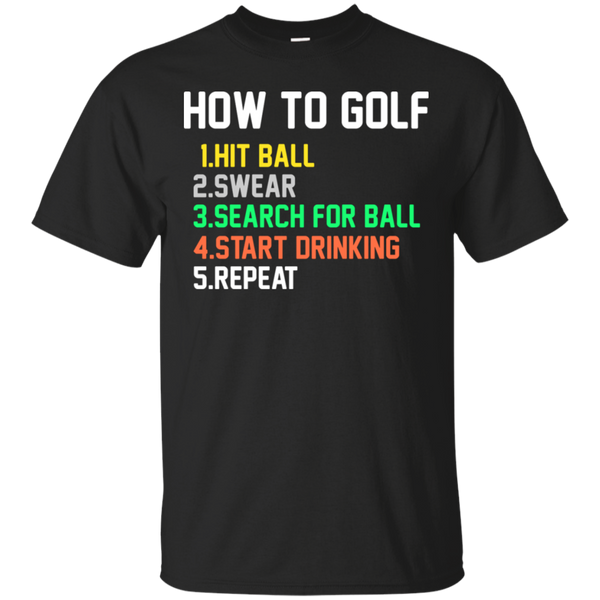 How To Golf T-Shirt Apparel - The Beer Lodge