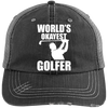World's Okayest Golfer Trucker Cap Hats - The Beer Lodge