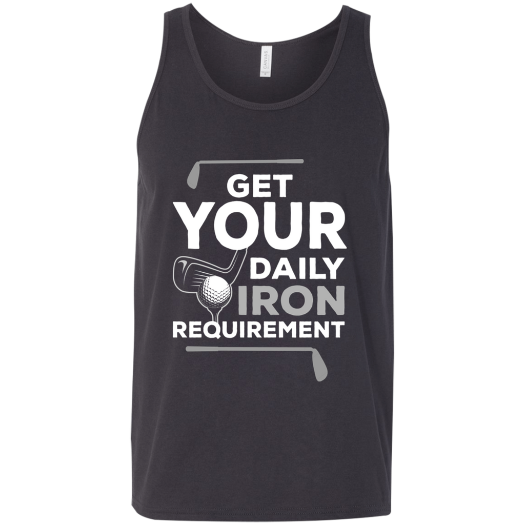 Get Your Daily Iron Requirement Tank Top Apparel - The Beer Lodge