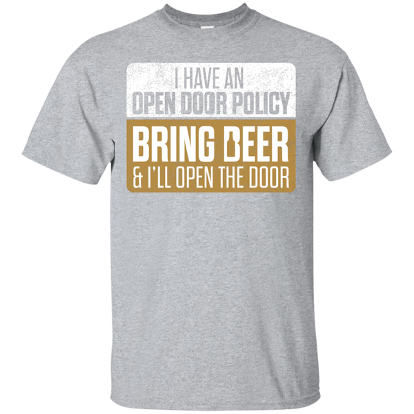 I Have An Open Door Policy T-Shirt Apparel - The Beer Lodge