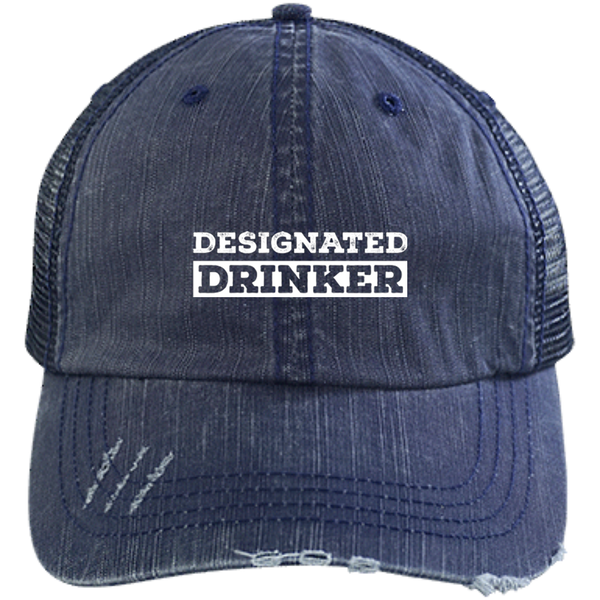Designated Drinker Distressed Unstructured Trucker Cap - The Beer Life