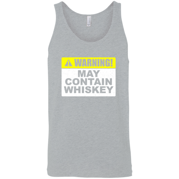 Warning May Contain Whiskey Tank Top Apparel - The Beer Lodge