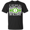 If I Got Back All The Money I Spent On Alcohol (Dollar Sign) T-Shirt Apparel - The Beer Lodge
