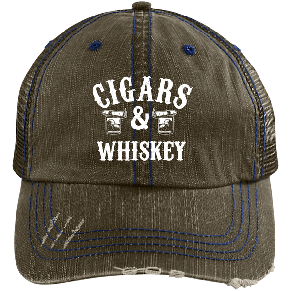 Cigars And Whiskey Trucker Cap Hats - The Beer Lodge