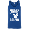 World's Okayest Golfer Tank Top Apparel - The Beer Lodge