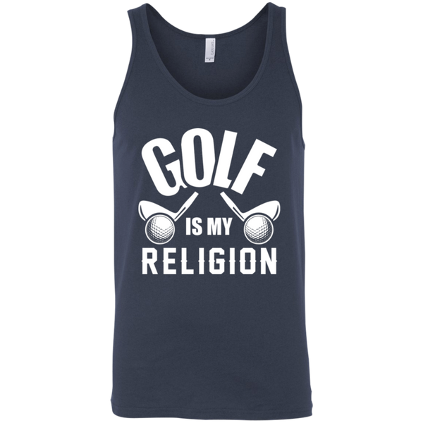 Golf Is my Religion Tank Top Apparel - The Beer Lodge