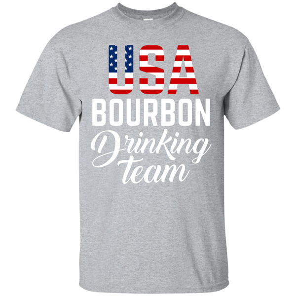 USA Bourbon Drinking Team T-Shirt Apparel - The Beer Lodge