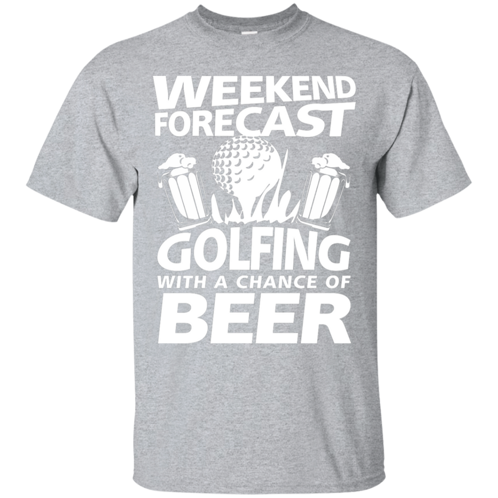 Weekend Forecast Golfing With A Chance Of Beer T-Shirt Apparel - The Beer Lodge