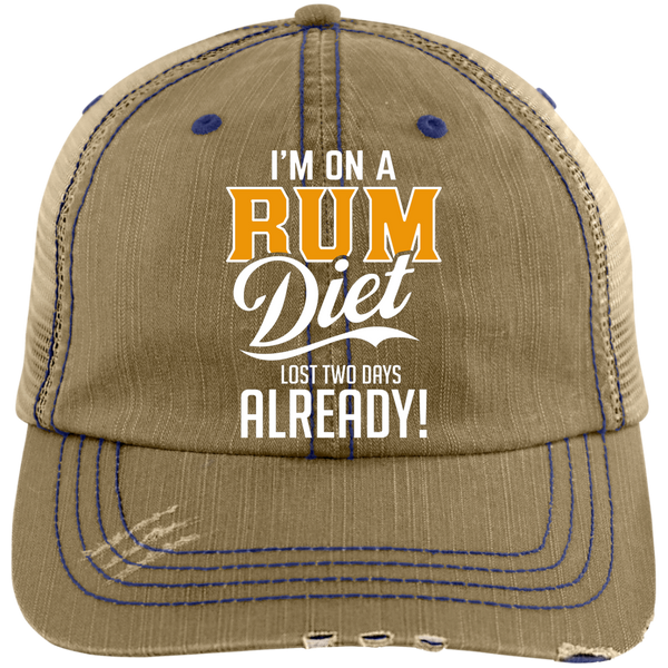 I'm On A Rum Diet Lost Two Days Already! Trucker Cap Hats - The Beer Lodge