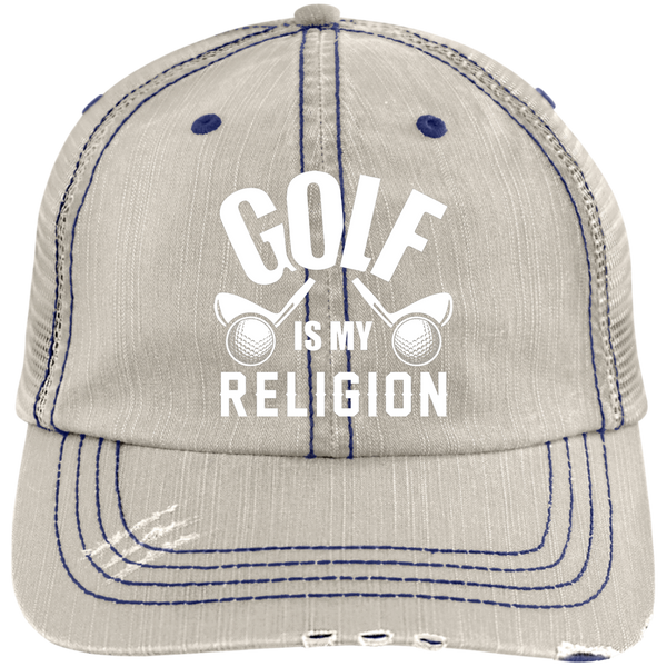 Golf Is My Religion Trucker Cap Hats - The Beer Lodge
