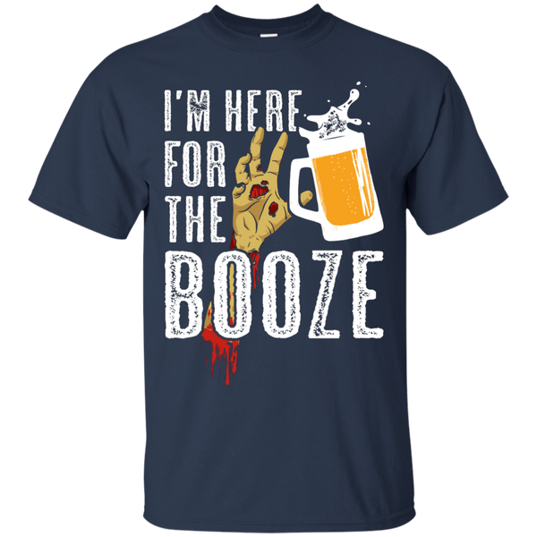 I'm Here For The Booze Halloween T-Shirt Apparel - The Beer Lodge