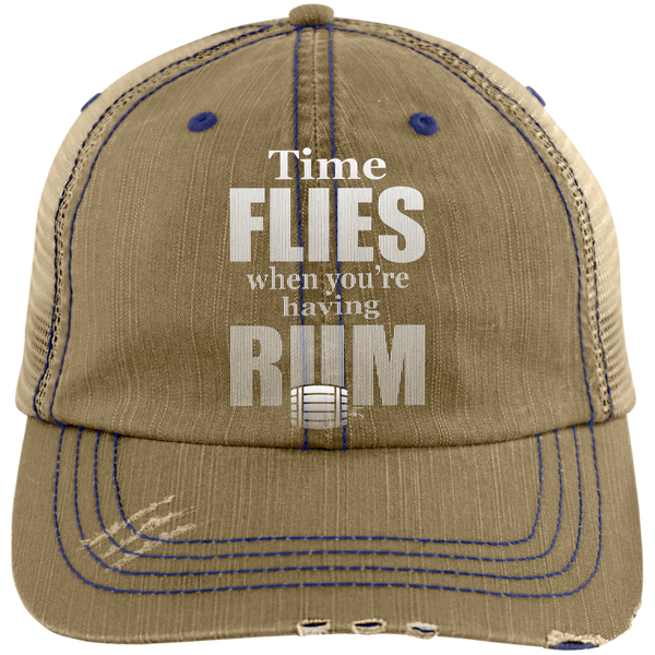 Time Flies When You're Having Rum Trucker Cap Hats - The Beer Lodge