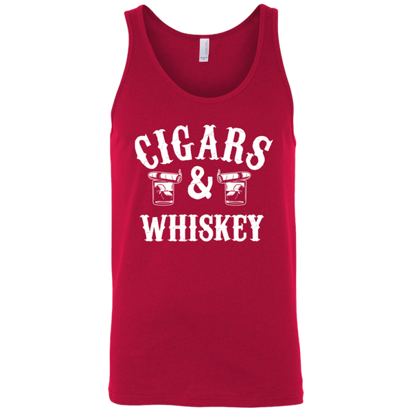 Cigars And Whiskey Tank Top Apparel - The Beer Lodge