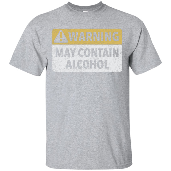 May Contain Alcohol T-Shirt Apparel - The Beer Lodge