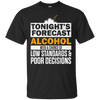 Tonight's Forecast Alcohol T-Shirt Apparel - The Beer Lodge